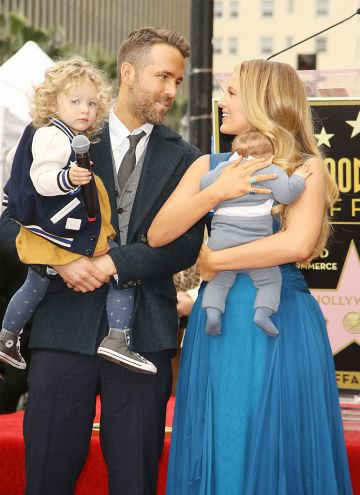 Blake Lively with husband Ryan Reynolds and kids attend the ceremony honoring actor Ryan Reynolds with a Star on The Hollywood Walk of Fame held on December 15, 2016 in Hollywood, California.  (Photo by Michael Tran/FilmMagic)