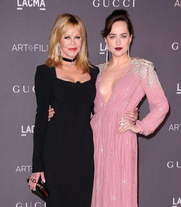 Melanie Griffith and daughter Dakota Johnson attend the 2017 LACMA Art + Film gala at LACMA on November 4, 2017 in Los Angeles, California.  (Photo by Jason LaVeris/FilmMagic)