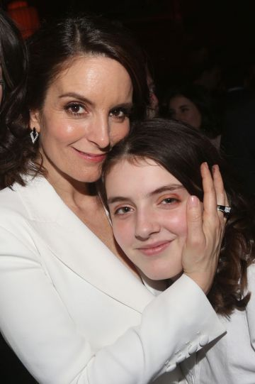 """Tina Fey and daughter Alice Richmond pose at the opening night after party for the new musical """"Mean Girls"""" on Broadway based on the cult film at TAO Downtown on April 8, 2018 in New York City.  (Photo by Bruce Glikas/Bruce Glikas/FilmMagic)"""