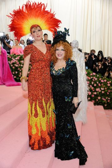 Bette Midler and Sophie Von Haselberg attends The 2019 Met Gala Celebrating Camp: Notes On Fashion at The Metropolitan Museum of Art on May 6, 2019 in New York City.  (Photo by Rabbani and Solimene Photography/WireImage)