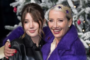 """Emma Thompson and daughter Gaia Wise attend the """"Last Christmas"""" UK Premiere  at BFI Southbank on November 11, 2019 in London, England. (Photo by Jeff Spicer/Getty Images)"""