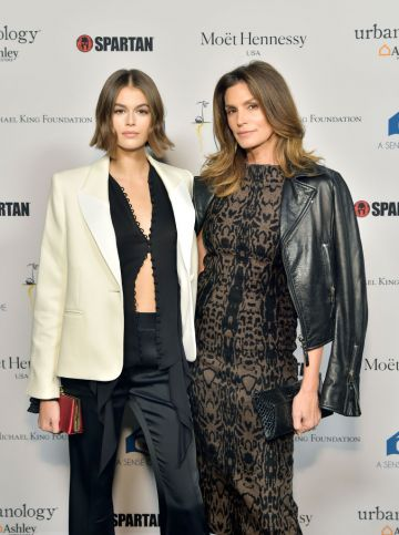 Kaia Jordan Gerber (L) and Cindy Crawford attend A Sense Of Home's First Ever Annual Gala - The Backyard Bowl at a Private Residence on November 01, 2019 in Beverly Hills, California. (Photo by Stefanie Keenan/Getty Images for A Sense of Home)
