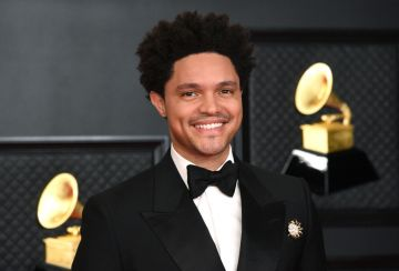 Trevor Noah attends the 63rd Annual GRAMMY Awards at Los Angeles Convention Center on March 14, 2021 in Los Angeles, California. (Photo by Kevin Mazur/Getty Images for The Recording Academy )