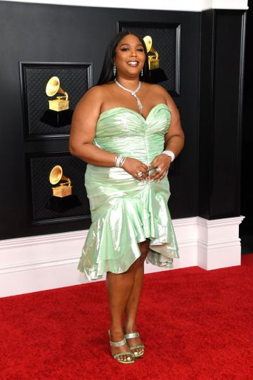 Lizzo attends the 63rd Annual GRAMMY Awards at Los Angeles Convention Center on March 14, 2021 in Los Angeles, California. (Photo by Kevin Mazur/Getty Images for The Recording Academy )