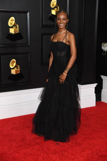 Tiara Thomas attends the 63rd Annual GRAMMY Awards at Los Angeles Convention Center on March 14, 2021 in Los Angeles, California. (Photo by Kevin Mazur/Getty Images for The Recording Academy )