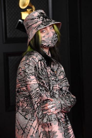 Billie Eilish attends the 63rd Annual GRAMMY Awards at Los Angeles Convention Center on March 14, 2021 in Los Angeles, California. (Photo by Kevin Mazur/Getty Images for The Recording Academy )