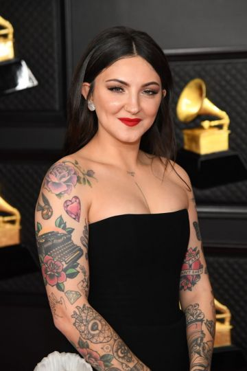 Julia Michaels attends the 63rd Annual GRAMMY Awards at Los Angeles Convention Center on March 14, 2021 in Los Angeles, California. (Photo by Kevin Mazur/Getty Images for The Recording Academy )