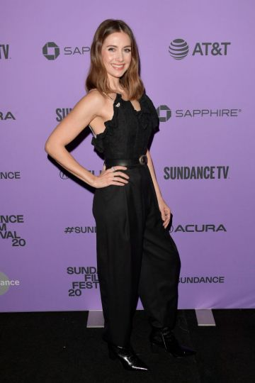 """Alison Brie attends the 2020 Sundance Film Festival - """"Promising Young Woman"""" Premiere at The Marc Theatre on January 25, 2020 in Park City, Utah. (Photo by George Pimentel/Getty Images)"""