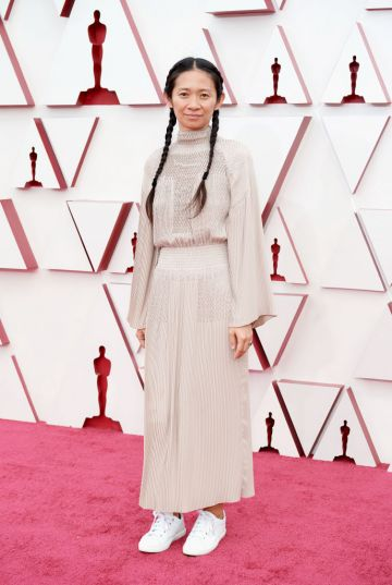 Chloé Zhao attends the 93rd Annual Academy Awards at Union Station on April 25, 2021 in Los Angeles, California. (Photo by Matt Petit/A.M.P.A.S. via Getty Images)