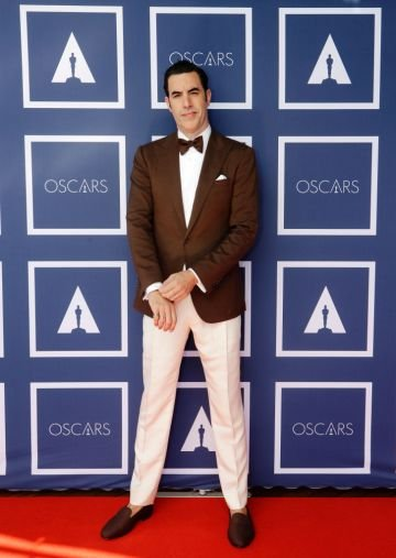 Sacha Baron Cohen attends a screening of the Oscars on Monday April 26, 2021 in Sydney, Australia. (Photo by Rick Rycroft-Pool/Getty Images)