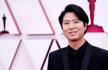 Erick Oh attends the 93rd Annual Academy Awards at Union Station on April 25, 2021 in Los Angeles, California. (Photo by Chris Pizzello-Pool/Getty Images)