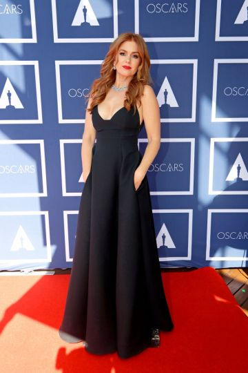Isla Fisher attends a screening of the Oscars on Monday April 26, 2021 in Sydney, Australia. (Photo by Rick Rycroft-Pool/Getty Images)