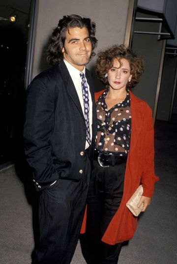 Actor George Clooney and wife Talia Balsam attend the ABC Television Affiliates Party on June 14, 1990 at the Century Plaza Hotel in Los Angeles, California. (Photo by Jim Smeal/Ron Galella Collection via Getty Images)