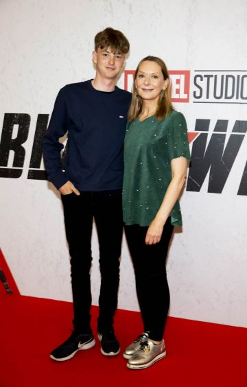 Ben Taylor and actress Cathy Belton pictured at the Irish Special Preview Screening Marvel Studios Black Widow. Picture Andres Poveda