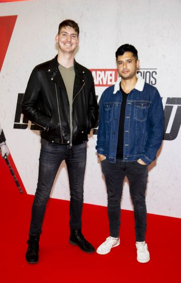 Eoin Murphy and Nick Leung pictured at the Irish Special Preview Screening Marvel Studios Black Widow. Picture Andres Poveda