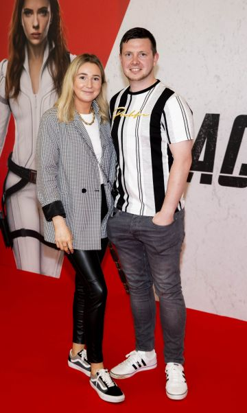 Sarah Brady and Colm Coleman pictured at the Irish Special Preview Screening Marvel Studios Black Widow. Picture Andres Poveda