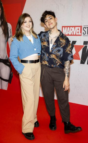 Ellen McCullough and Jamie Lo pictured at the Irish Special Preview Screening Marvel Studios Black Widow. Picture Andres Poveda