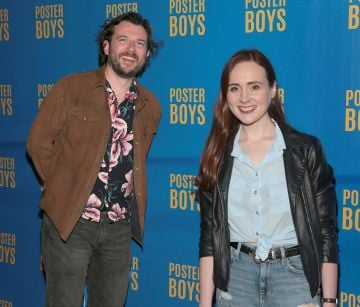 Actors Kevin McGahern and Justine Stafford pictured at the gala preview screening of Poster Boys at Omniplex , Rathmines,Dublin.  Picture PIP