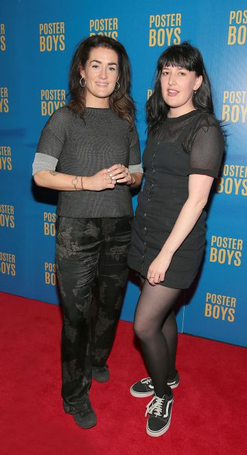 Sinead White and May Kay pictured at the gala preview screening of Poster Boys at Omniplex , Rathmines,Dublin.  Picture PIP