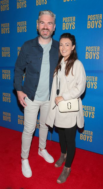 Killian O Sullivan and Debbie McQuillan  pictured at the gala preview screening of Poster Boys at Omniplex , Rathmines,Dublin.  Picture PIP