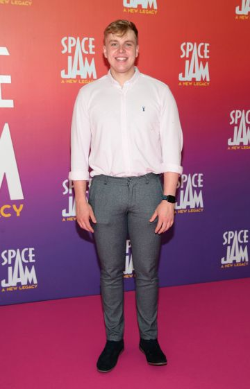 Mark Slane at the Irish Premiere screening of Space Jam : A New Legacy at the Odeon Cinema in Point Square,Dublin Picture PIP
