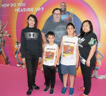 Jared Hetherington ,Tony Hetherington,Tommy Hetherington,Jackie Hetherington and Patcharee Hetherington at the Irish Premiere screening of Space Jam : A New Legacy at the Odeon Cinema in Point Square,Dublin Picture PIP