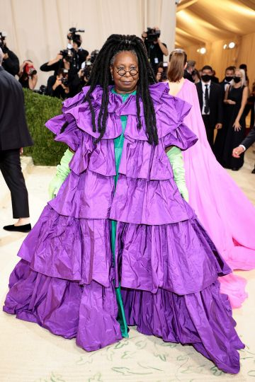 NEW YORK, NEW YORK - SEPTEMBER 13: Whoopi Goldberg attends The 2021 Met Gala Celebrating In America: A Lexicon Of Fashion at Metropolitan Museum of Art on September 13, 2021 in New York City. (Photo by Dimitrios Kambouris/Getty Images for The Met Museum/Vogue )