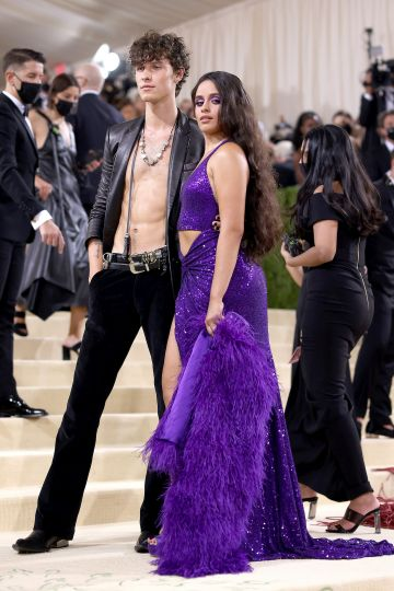NEW YORK, NEW YORK - SEPTEMBER 13: Shawn Mendes and Camila Cabello attend The 2021 Met Gala Celebrating In America: A Lexicon Of Fashion at Metropolitan Museum of Art on September 13, 2021 in New York City. (Photo by John Shearer/WireImage)