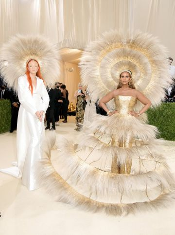 NEW YORK, NEW YORK - SEPTEMBER 13: Designer Harris Reed and Iman attend The 2021 Met Gala Celebrating In America: A Lexicon Of Fashion at Metropolitan Museum of Art on September 13, 2021 in New York City. (Photo by Jeff Kravitz/FilmMagic)