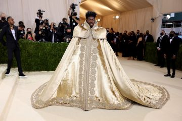 NEW YORK, NEW YORK - SEPTEMBER 13: Lil Nas X attends The 2021 Met Gala Celebrating In America: A Lexicon Of Fashion at Metropolitan Museum of Art on September 13, 2021 in New York City. (Photo by John Shearer/WireImage)
