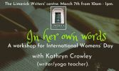 'In Her Own Words' Workshop