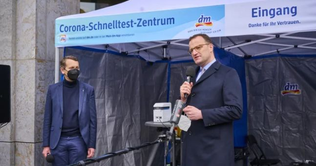 dm drogerie markt opens 100th covid 19 rapid test centre in germany.