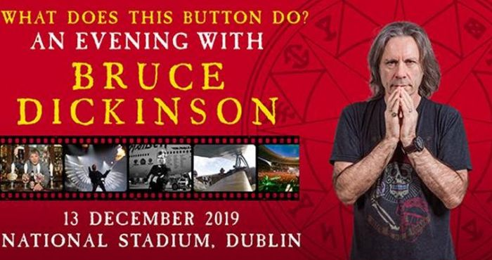 Iron Maiden's Bruce Dickinson to hold speaking show in Dublin