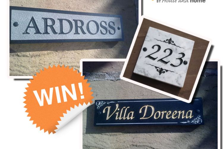 WIN! The Friday Freebie with Pickit: Stonehouse Nameplates
