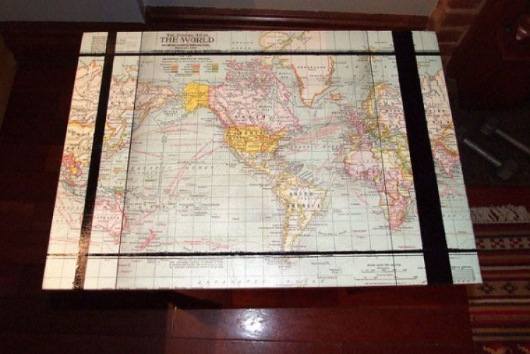 How to make your own map coffee table houseandhome how to make your own map coffee table gumiabroncs Images