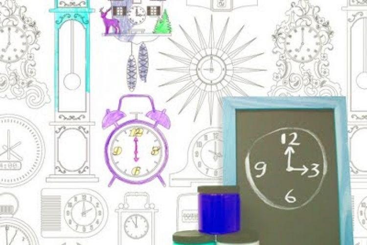 Keep kids entertained with colour-in wallpaper