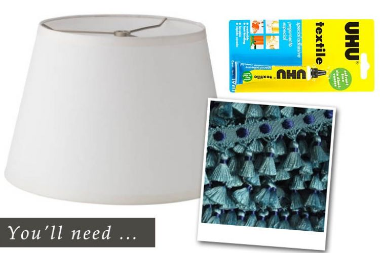 How to: an easy and cheap lampshade makeover