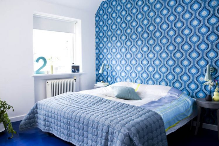 Real home makeover: a true blue bedroom