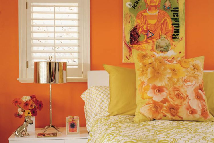 Happy Home: We've got an orange crush + paint colour tips