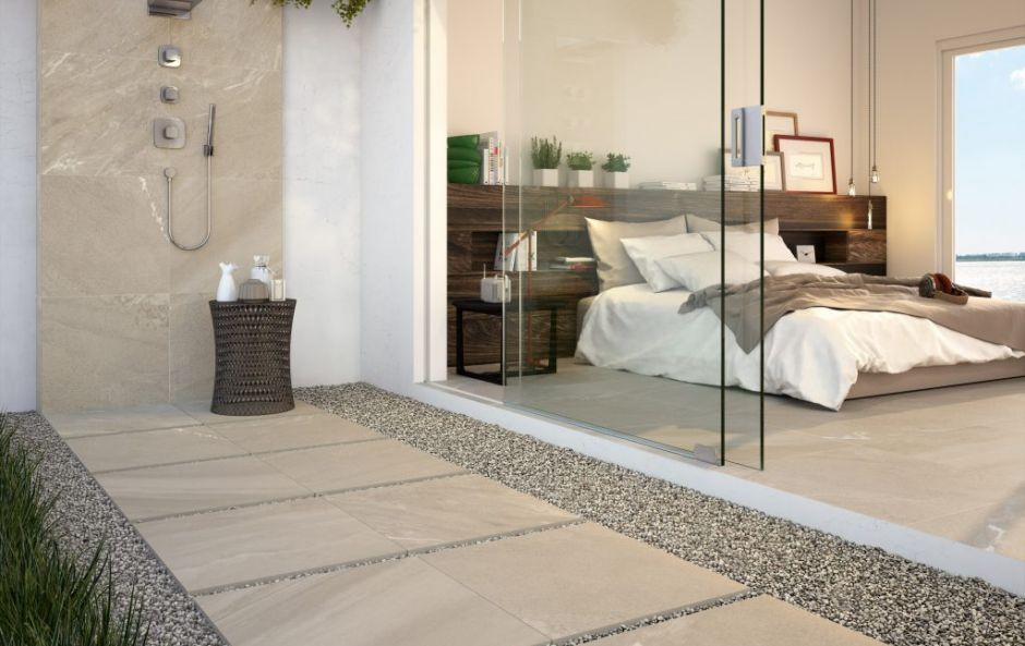 Trend alert: bring the inside outdoors, with exterior porcelain paving tiles