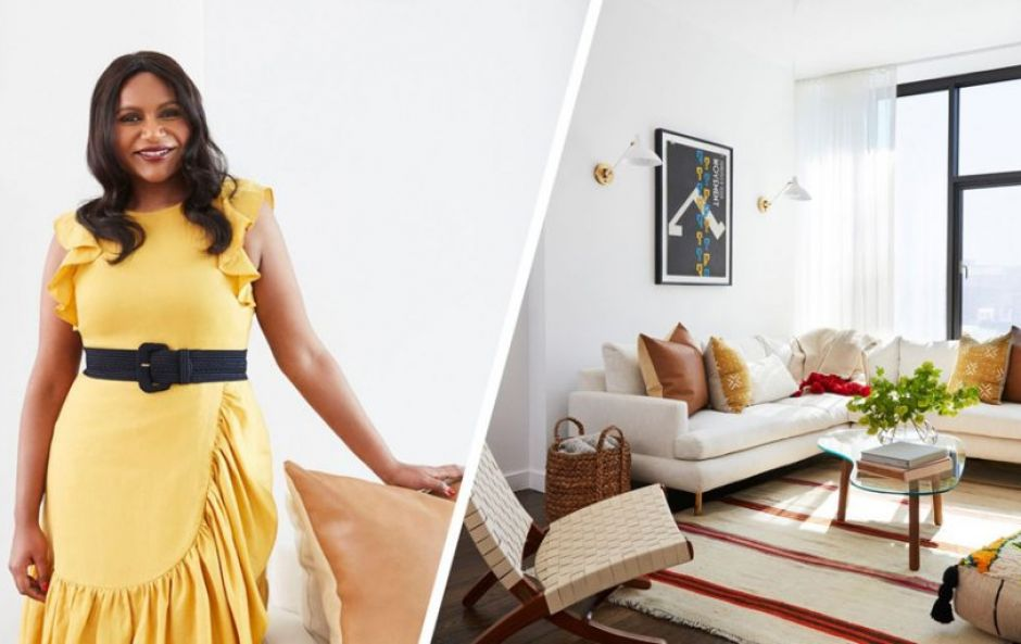 Inside Mindy Kaling's newly revamped NYC pad