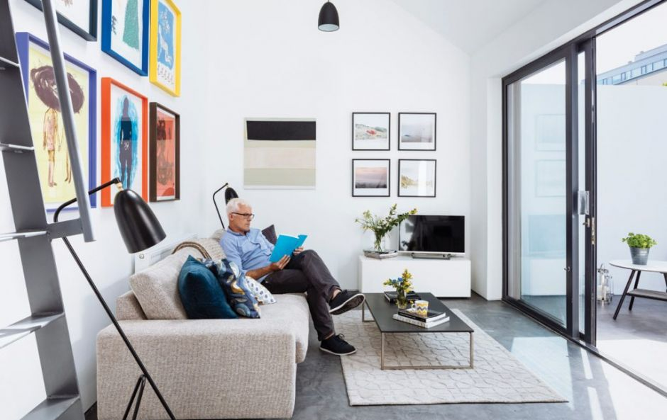 Work of art: This terraced cottage in Dublin's docklands is now a bright, modern home