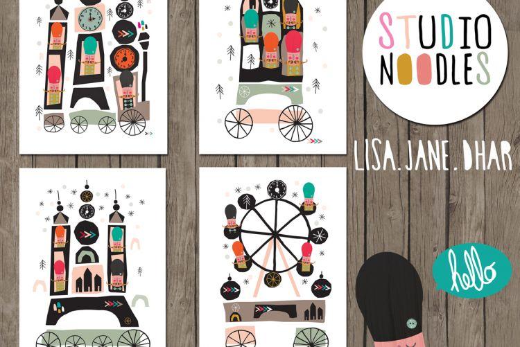 WIN! A set of eco prints by artist, Lisa Jane Dhar of Studio Noodles.