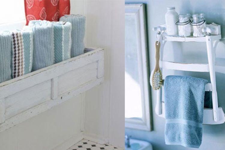 Quirky bathroom storage