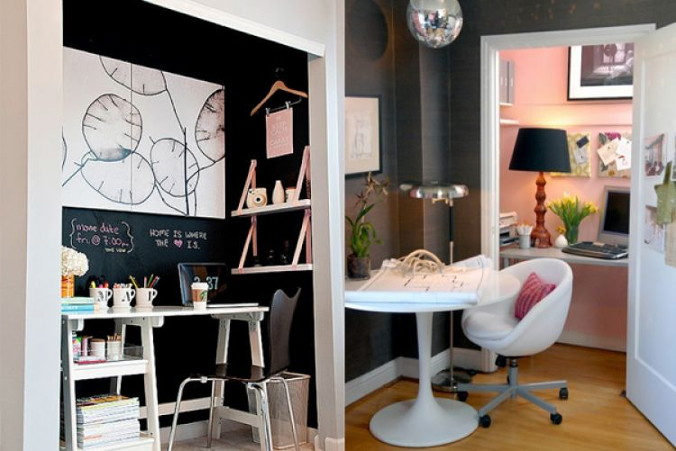 How to create an office nook in your spare wardrobe