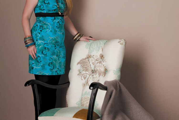 How to: upcycle a chair using plain and patterned designer silks and velvet