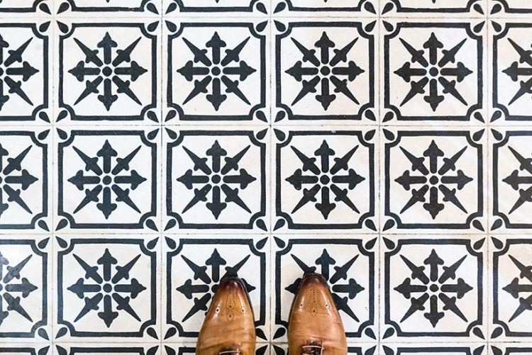 Photographer captures the tiled flooring of Barcelona