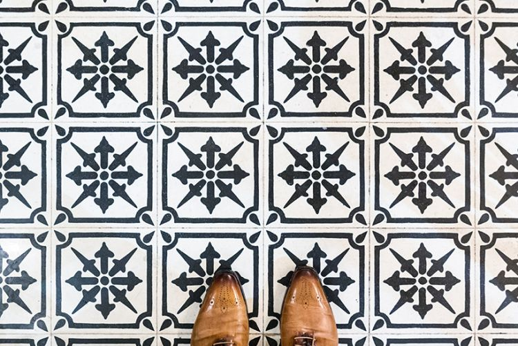 Photographer captures the tiled flooring of Barcelona