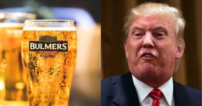 Bulmers Irish Cider mocks Trump over 'cancelled' Ireland visit
