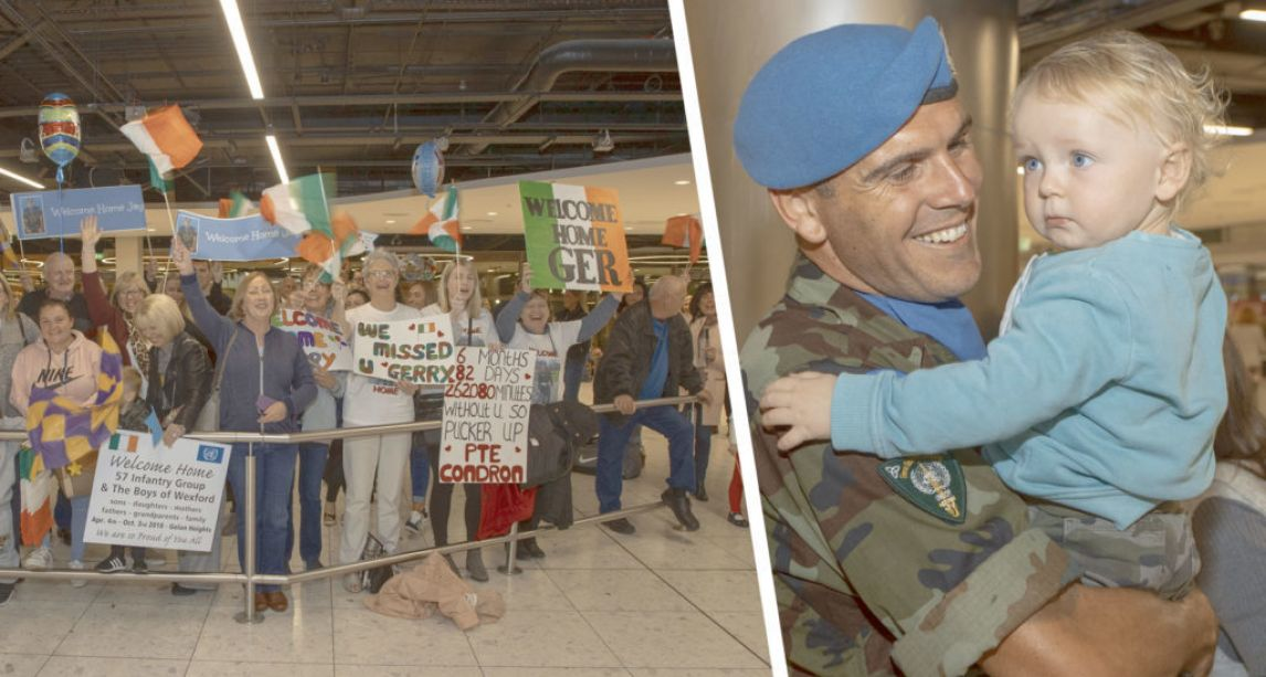 Emotional scenes as Irish troops finally return home from Golan Heights deployment after delay